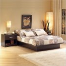Back Bay Dark Chocolate Wood Platform Bed 3 Piece Bedroom Set