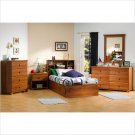 Sand Castle Kids Twin Wood Mates Storage Bed 5 Piece Bedroom Set in Sunny Pine