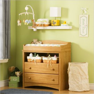 Sweet Morning Wood Changing Table in Maple