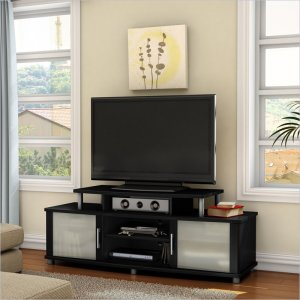 "City Life 59"" TV Stand in Pure Black"