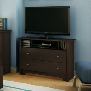 Breakwater TV Stand / Media Chest in Chocolate Finish