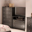 Breakwater 2 Drawer TV Stand Dresser in Black Finish