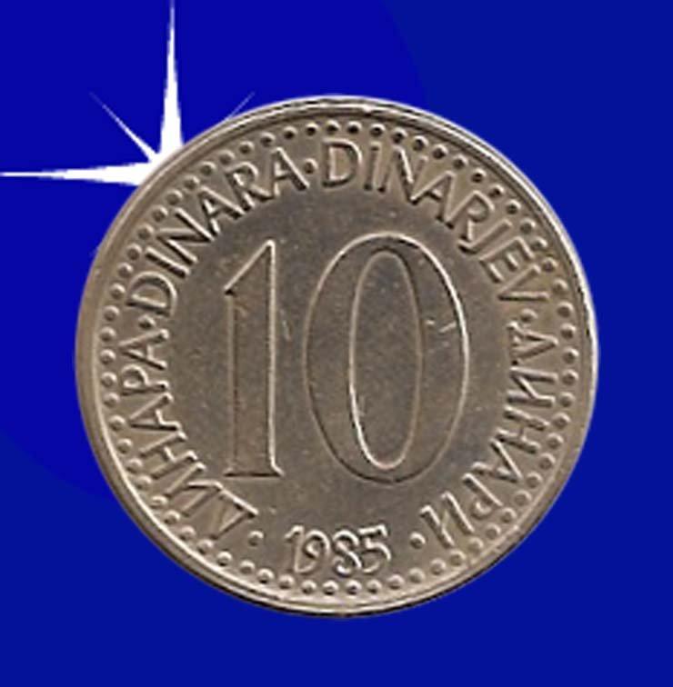 """""""10 DINARA 1985 Jugoslavije"""""""