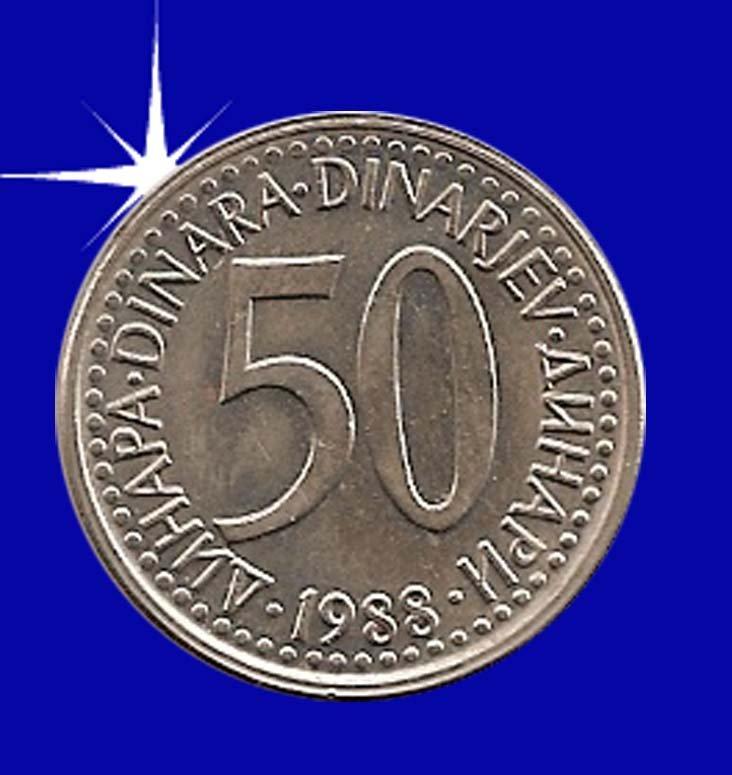 """""""50 DINARA 1988 Jugoslavije"""""""