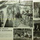 Alain Delon, Romy Schneider / Mylene Demongeot, Marie Laforet  clipping pinup 1962 : 62s1