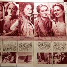 Meryl Streep  clipping pinup 2pages 1984 : 84s7