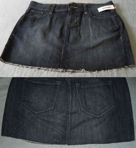 Women Cut Off Mini Denim Jeans Skirt CutOff Blueberry Short Women Clothing Size 4