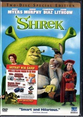 Shrek Mike Myers Eddie Murphy Cameron Diaz John Lithgow Cartoon Region 1 DVD