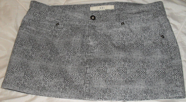 DNM Short Mini Skirt Black and Grey Women Clothing Medium Size M