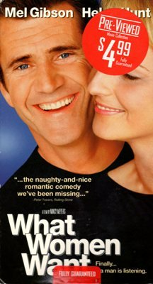 What Women Want Mel Gibson Helen Hunt VHS Movie Romantic Comedy PG-13 Video