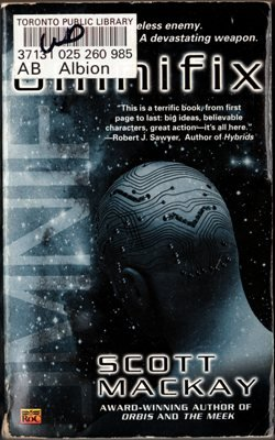 Omnifix by Scott MacKay Paperback Science Fiction Novel Book Ex-Library 0451459601