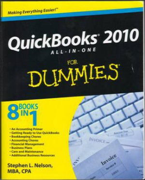 Quickbooks 2010 All-In-One Dummies Stephen L Nelson Accounting Book 047050837X