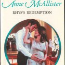 Rhys's Redemption by Anne McAllister Harlequin Presents Romance Book 0373121261