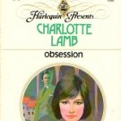 Obsession by Charlotte Lamb Harlequin Presents Romance Novel Book 037310393X