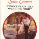 Innocent On Her Wedding Night by Sara Craven Harlequin Presents Book Romance Novel