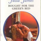 Bought For The Greek's Bed by Julia James Harlequin Presents Love Romance Novel Book