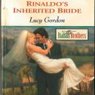 Rinaldo's Inherited Bride by Lucy Gordon Harlequin Romance Fiction Novel Book 0373037996