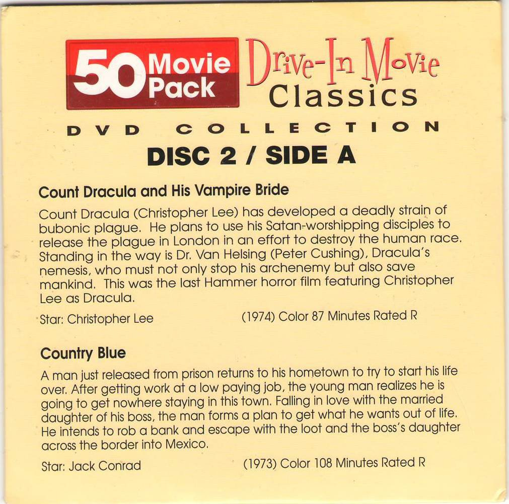 Count Dracula and His Vampire Bride Country Blue Going Steady Mad Dog DVD Movies Disc 2