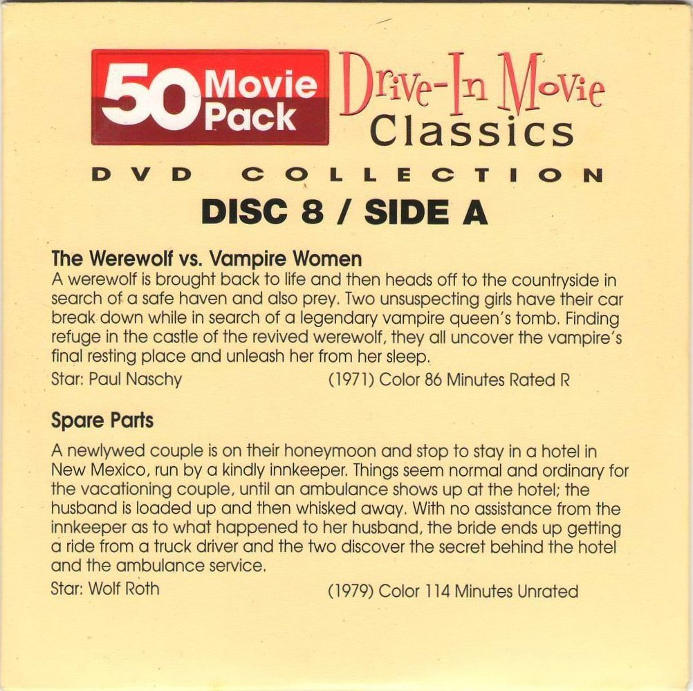 The Werewolf vs Vampire Women Spare Parts Death By Dialogue Legacy Of Blood Disc 8 50 Movie Pack