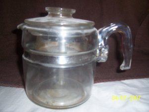 Vintage Pyrex 8 Cup Percolator  Free Shipping
