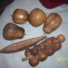 Vintage Wooden Fruit  Free Shipping