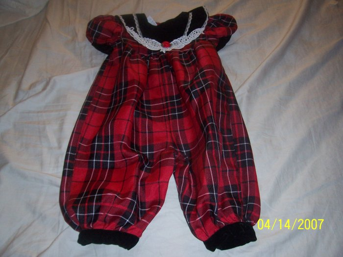 Rose Cottage Romper Girls 6/9 Months  Free Shipping
