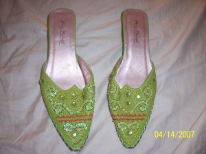 Anne Michelle Sequin Shoes Womens 5  Free Shipping