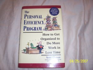 The Personal Efficiency Program by Kerry Gleason  Free Shipping