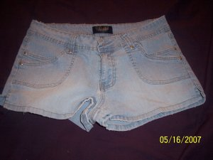 Angels Distressed Daisy Duke Shorts Womens 13  FREE SHIPPING