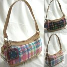Small Handbags with Trendy Plaid Design