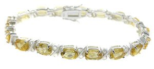 925 STERLING SILVER BRACELET WITH GENUINE CITRINE