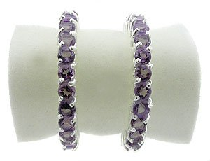 GENUINE AMETHYST   925 STERLING  SILVER