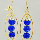 Royal Blue Glass Beads Earrings (Item#: 00307)