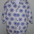 Men's Vintage Johnny Blaze Short Sleeve Button Up Casual Shirt Size Large