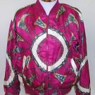 Jacqueline Ferrar Women's Vintage Scarf Print Light Full Zip Jacket Size OSFM