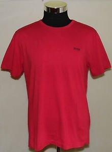 BOSS Hugo Boss Men�s Red Cotton Short Sleeve Crew Neck T-Shirt Size XL
