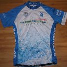 VO MAX WOMEN'S THE KATIE RIDE FOR LIFE BLUE WHITE CYCLING SHIRT SIZE XL