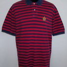 Polo Ralph Lauren Crest Men's Striped Short Sleeve Casual Polo Shirt Size XL