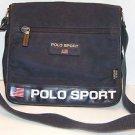 "Polo Sport Ralph Lauren Vintage Blue Carry On Travel Bag 12""x 11"" Shoulder Strap"