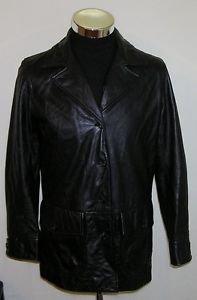 Lauren By Ralph Lauren Green Label Women's Solid 100% Leather Jacket Size Medium