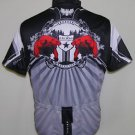 Primal Pheonix Bird Men's Black Gray Cycling Bicyle Jersey Size Large