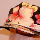 Floral Hawaiian Black Customize How You Want To Vintage 80's Baseball Hat Cap