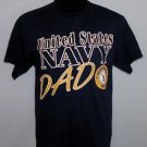 United States Navy DAD Men's Soffe Brand Navy Blue Short Sleeve T-Shirt Size M