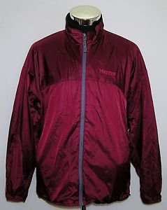 Marmot Unisex Soft Shell Burgundy Full Zip Vented Jacket Size XL/TG