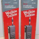 REALISTIC TRC-219 Handheld Walkie Talkie Lot of 2 Vintage 3 Channel CB Radios