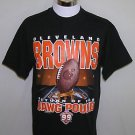 Cleveland Browns Vintage Return of The Dawg Pound Countdown to 99 T-Shirt Size L