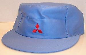 Mitsubishi Motors Automobiles Vintage Japanese Brand Baby Blue Zipback Hat RARE