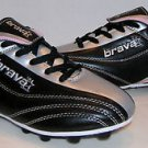 Girls Youth Kids Brava Soccer Shoes Cleats Black Silver Pink Missy Size 3.5