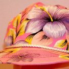 Floral Hawaiian Pink Customize How You Want To Vintage 80's Baseball Hat Cap