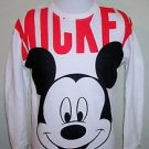 Disney Brand Mickey Mouse Big Mickey All Over Front Crewneck Sweatshirt Size S